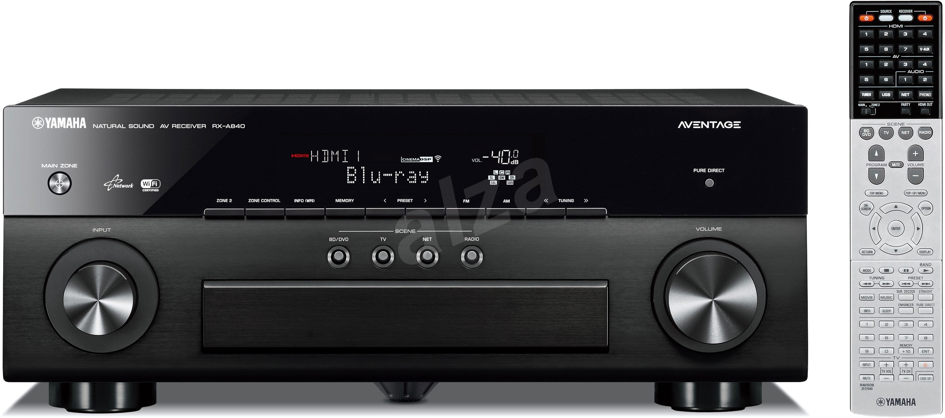 Yamaha rx a840 black av receiver for Yamaha amplifier spotify