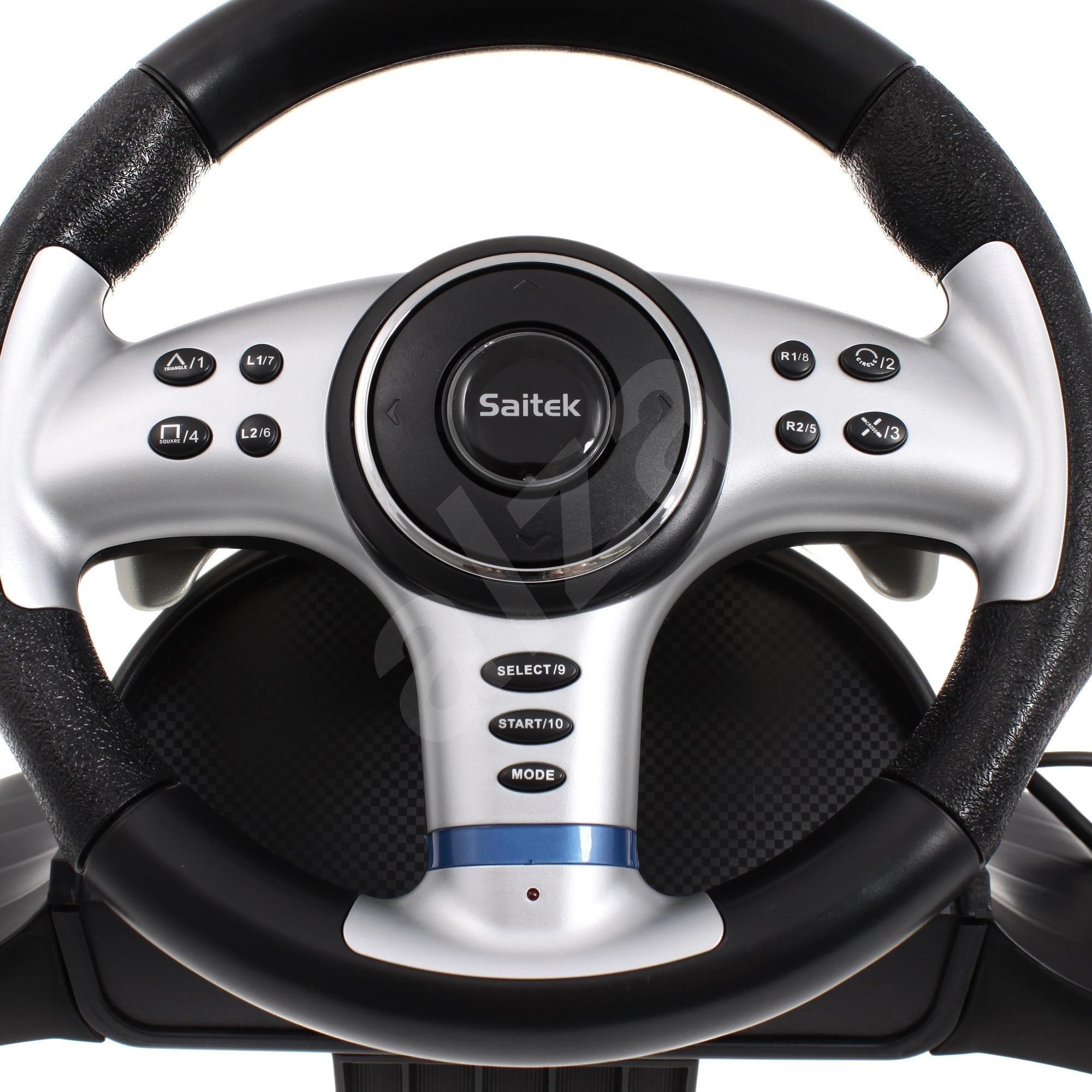 saitek 4v1 vibration wheel volant. Black Bedroom Furniture Sets. Home Design Ideas