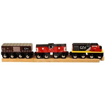 Wooden train sets - CN freight train - Train | Toys