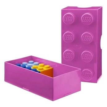 lego snack box 100 x 200 x 75 mm pink snack box toys. Black Bedroom Furniture Sets. Home Design Ideas