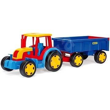 traktor gigant mit anh nger auto spielzeug. Black Bedroom Furniture Sets. Home Design Ideas