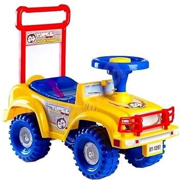 kleinkind auto jeep yupee gelb laufrad bobby car spielzeug. Black Bedroom Furniture Sets. Home Design Ideas