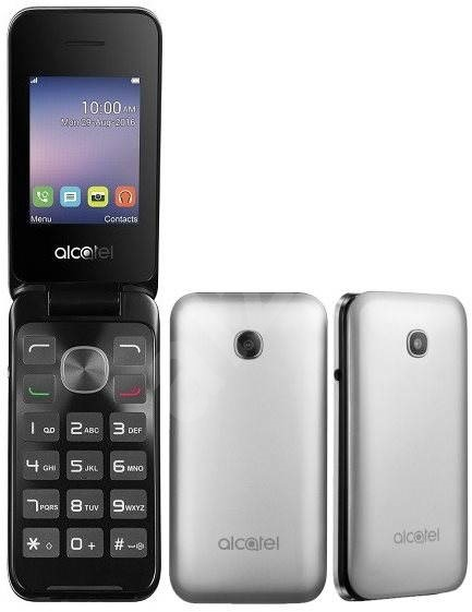 alcatel onetouch 2051d metal silver mobile phone. Black Bedroom Furniture Sets. Home Design Ideas