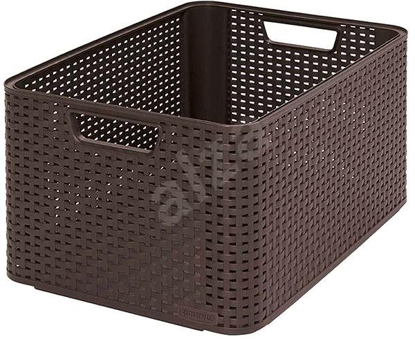 curver storage box rattan style2 l 03616 210 box. Black Bedroom Furniture Sets. Home Design Ideas