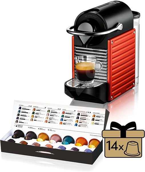 krups nespresso pixie electric red xn3006 automatic coffee machine. Black Bedroom Furniture Sets. Home Design Ideas