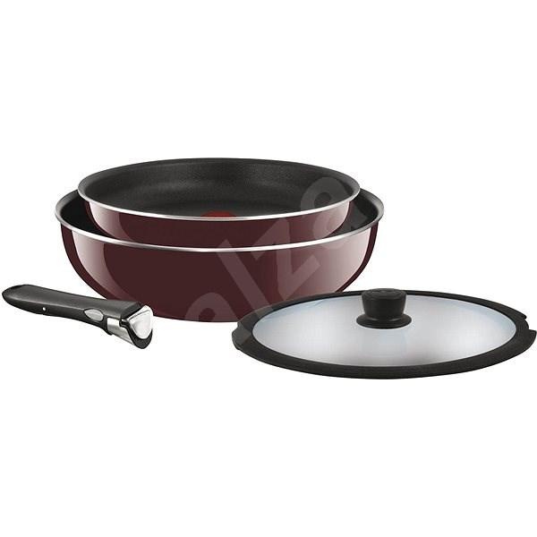 set of cookware tefal ingenio 4 pcs enamel frying pan cookware set. Black Bedroom Furniture Sets. Home Design Ideas