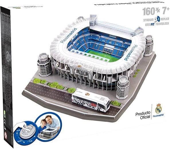 3d puzzle nanostad spain santiago bernabeu real madrid football stadium puzzle. Black Bedroom Furniture Sets. Home Design Ideas