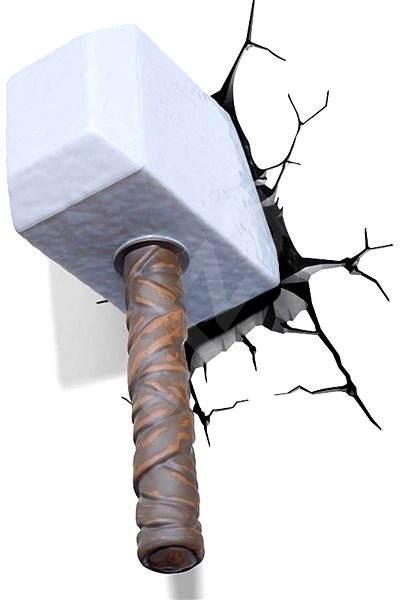 philips 3d wandlampe thor hammer kinderzimmer. Black Bedroom Furniture Sets. Home Design Ideas