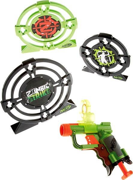 Target Toy Guns : Nerf zombie strike target set zoombie with three targets