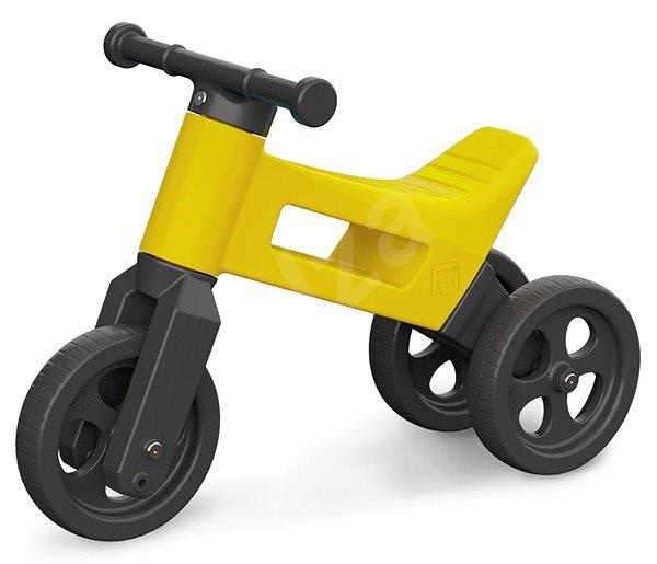 lustige r der 2in1 gelb bobby car. Black Bedroom Furniture Sets. Home Design Ideas