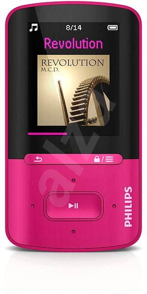 philips vibe sa4vbe04pf pink mp4 player. Black Bedroom Furniture Sets. Home Design Ideas