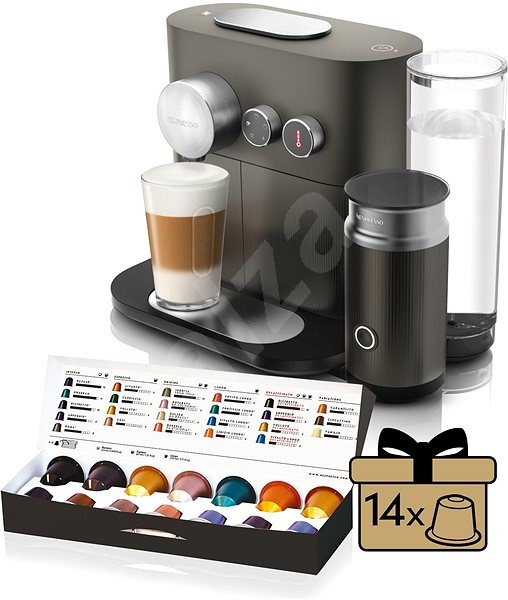 nespresso delonghi expert en355 gae capsule coffee machine. Black Bedroom Furniture Sets. Home Design Ideas