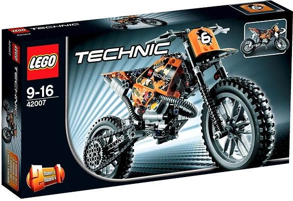 lego technic 42007 moto cross bike building kit. Black Bedroom Furniture Sets. Home Design Ideas