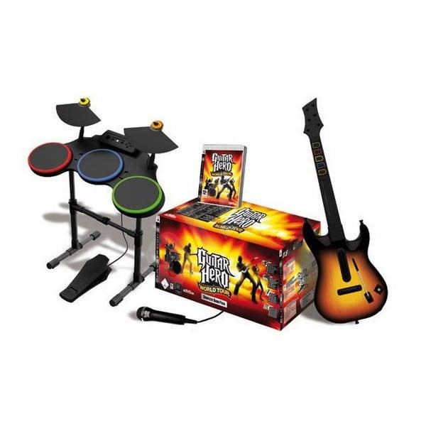 ps3 guitar hero world tour kytara mikrofon bubny. Black Bedroom Furniture Sets. Home Design Ideas