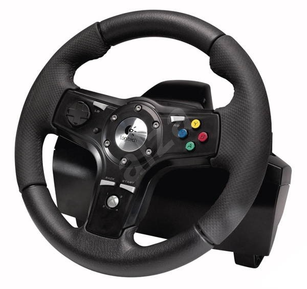 xbox 360 logitech drivefx axial feedback wheel volant s. Black Bedroom Furniture Sets. Home Design Ideas
