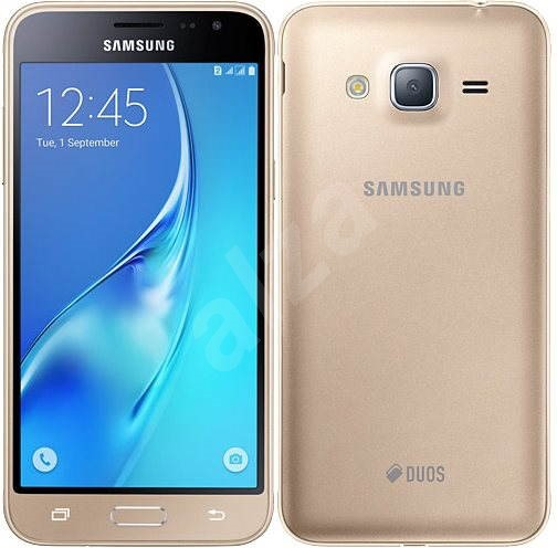samsung galaxy j3 duos 2016 gold mobile phone. Black Bedroom Furniture Sets. Home Design Ideas