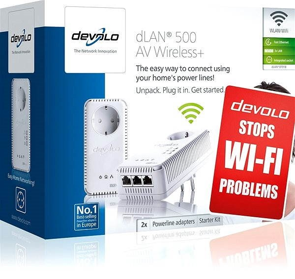 devolo dlan 500 av wireless starter kit powerline. Black Bedroom Furniture Sets. Home Design Ideas
