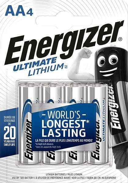 energizer ultimate lithium aa 4 bat ria. Black Bedroom Furniture Sets. Home Design Ideas