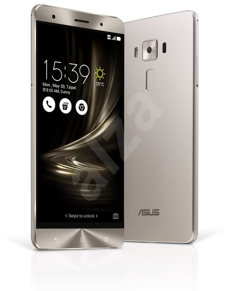 asus zenfone 3 deluxe silver mobile phone. Black Bedroom Furniture Sets. Home Design Ideas