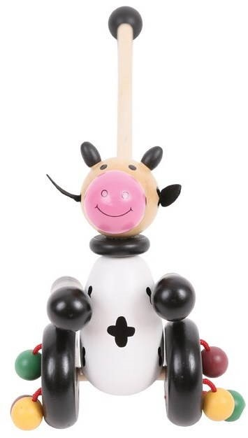 Push And Pull Toys : Pull along toy cow push and alzashop