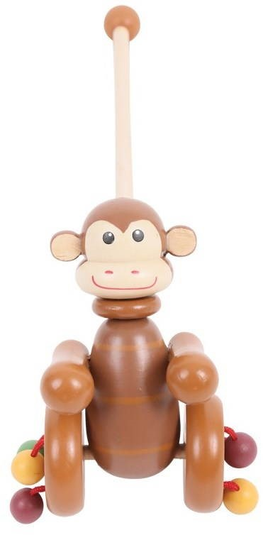 Push And Pull Toys : Pull along toy monkey push and toys