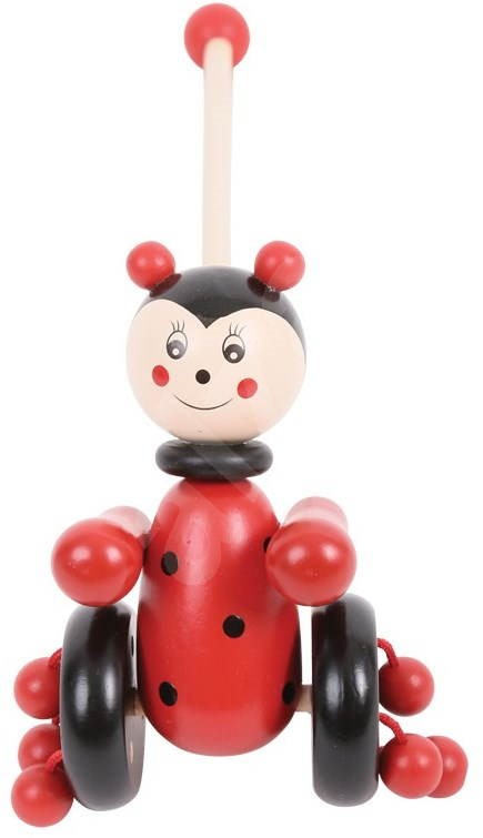 Push And Pull Toys : Pull along toy ladybird push and toys