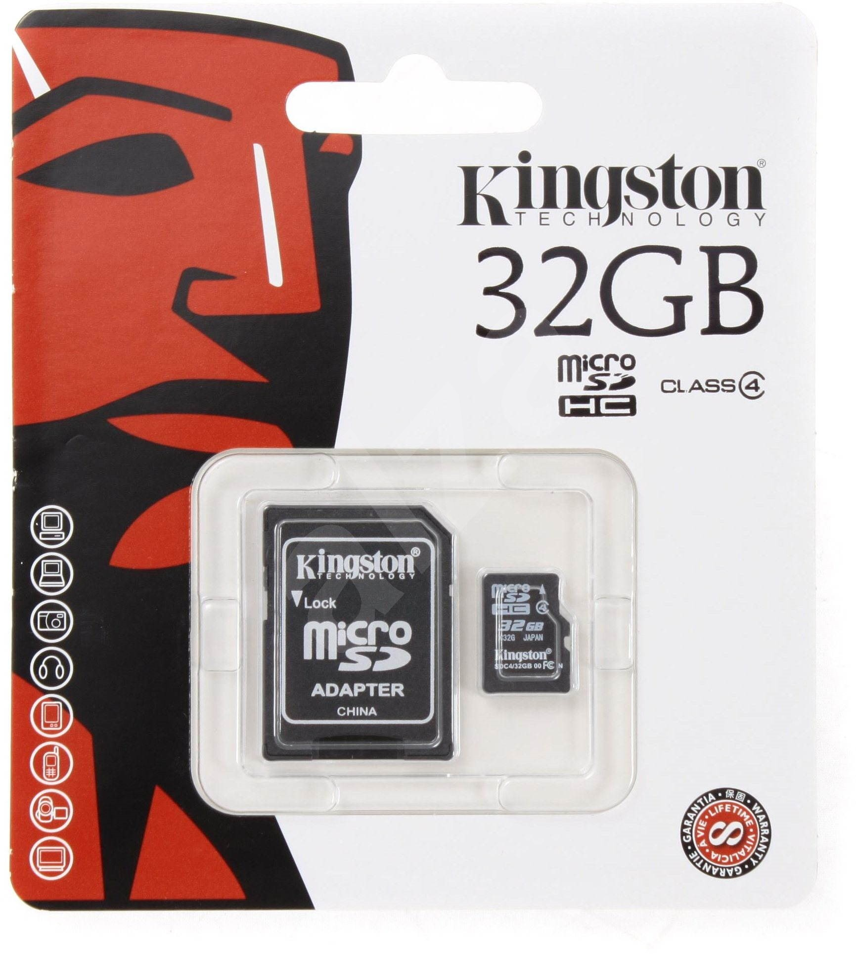 micro kingston 32gb sdhc class 4 sd adapter. Black Bedroom Furniture Sets. Home Design Ideas