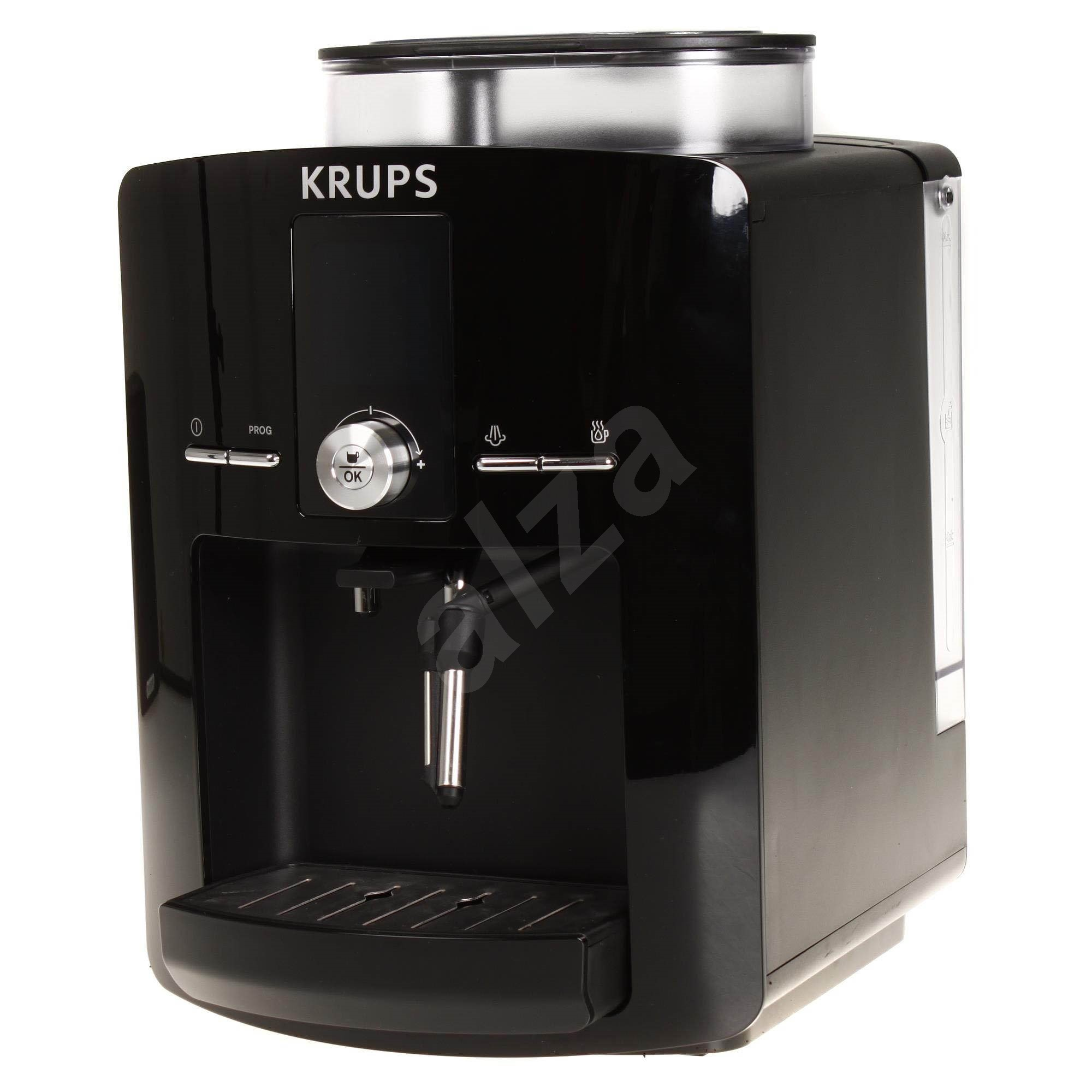 espresso machine krups ea8250pe espresseria automatic black espresso machine. Black Bedroom Furniture Sets. Home Design Ideas
