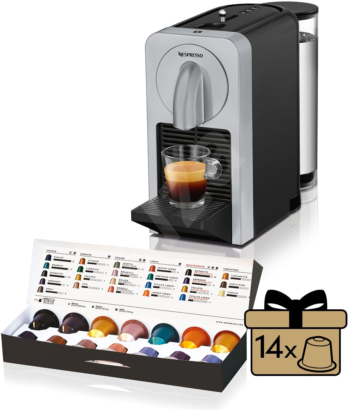nespresso d longhi prodigio en170 s kapsel kaffeemaschine. Black Bedroom Furniture Sets. Home Design Ideas