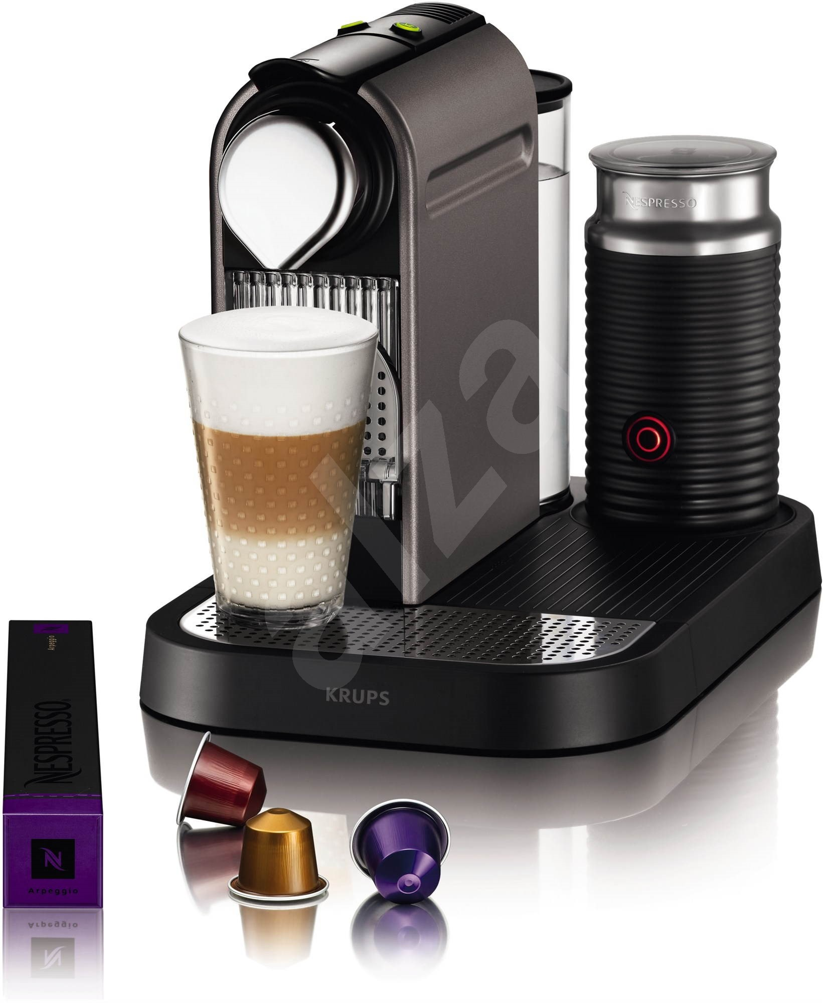 krups nespresso citiz milk xn730t10 titan. Black Bedroom Furniture Sets. Home Design Ideas