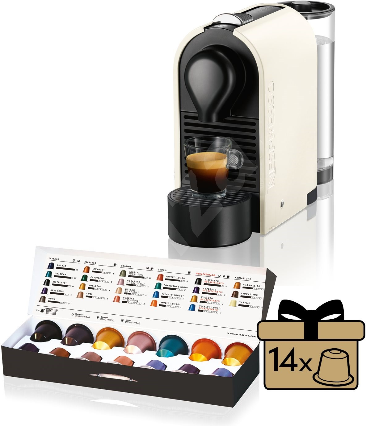 espresso nespresso krups u xn250110 automatic coffee machine. Black Bedroom Furniture Sets. Home Design Ideas
