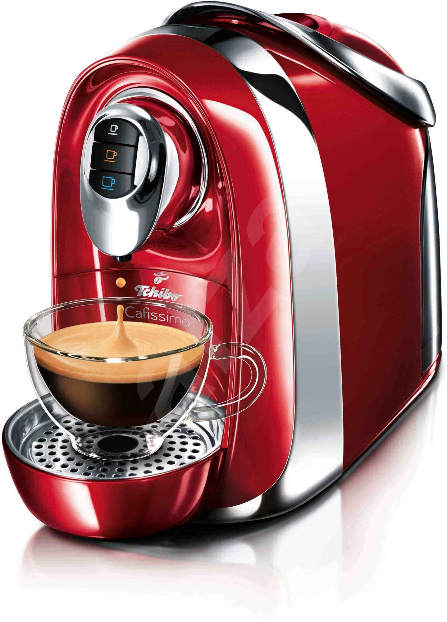 tchibo cafissimo compact red hot espresso machine. Black Bedroom Furniture Sets. Home Design Ideas