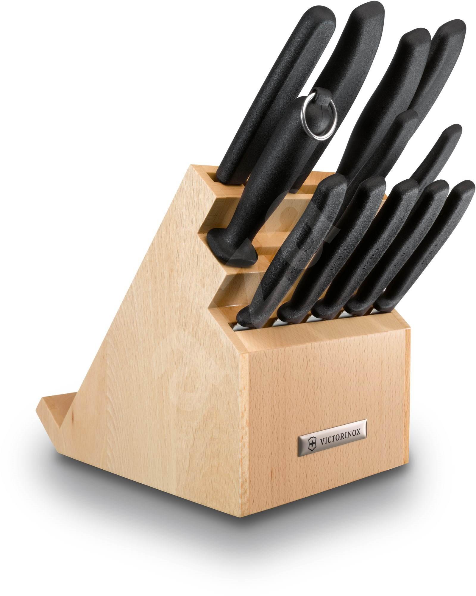 victorinox block with knives for chefs digital knife set. Black Bedroom Furniture Sets. Home Design Ideas