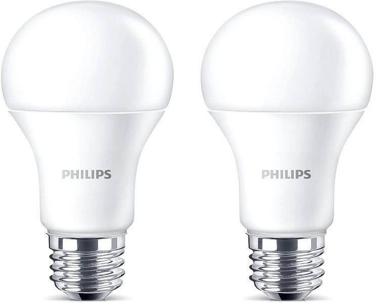 philips led 13 100w e27 2700k matte set of 2 led bulb. Black Bedroom Furniture Sets. Home Design Ideas