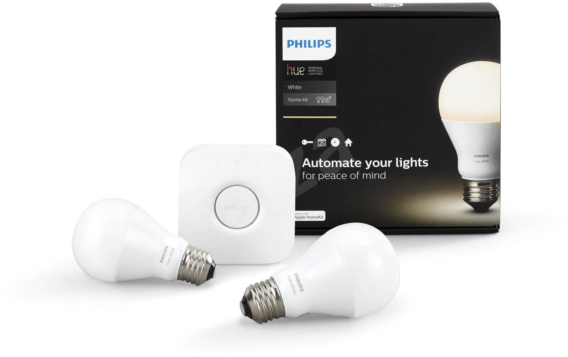philips hue white 8 5w e27 starter kit led bulb. Black Bedroom Furniture Sets. Home Design Ideas