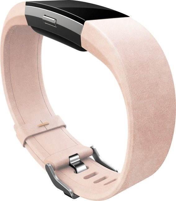 fitbit charge 2 lederarmband zartrosa gro armband. Black Bedroom Furniture Sets. Home Design Ideas