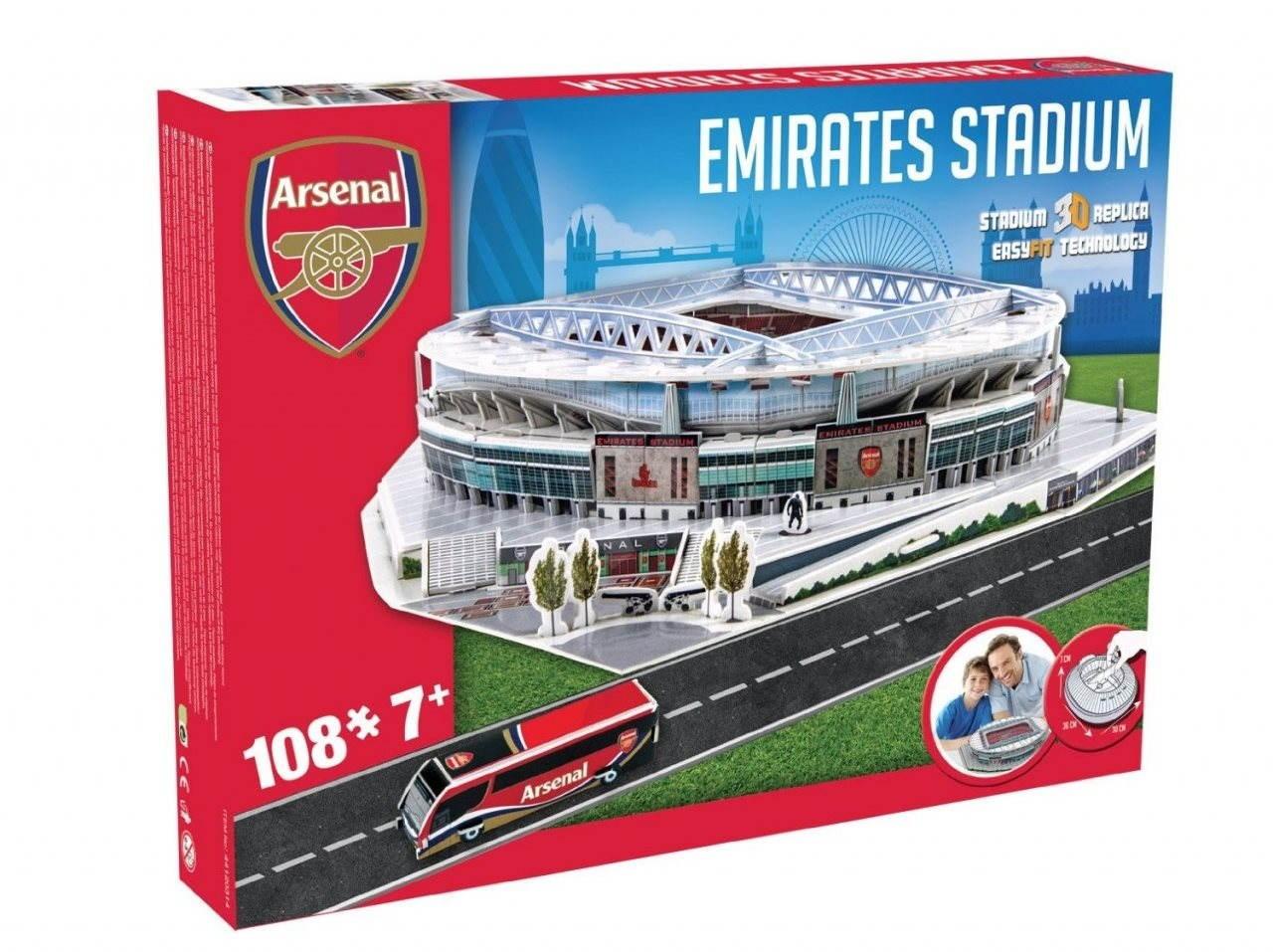 3d puzzle nanostad uk emirates fotbalov stadion arsenal puzzle. Black Bedroom Furniture Sets. Home Design Ideas