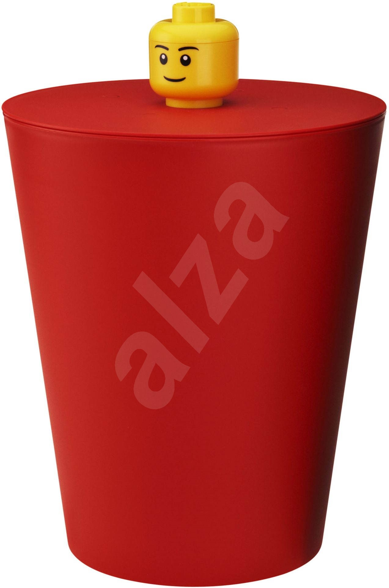 Lego wastebasket red dustbin toys - Rd wastebasket ...