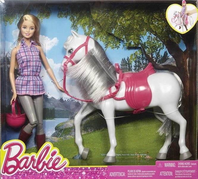 mattel barbie puppe mit pferd spielset. Black Bedroom Furniture Sets. Home Design Ideas