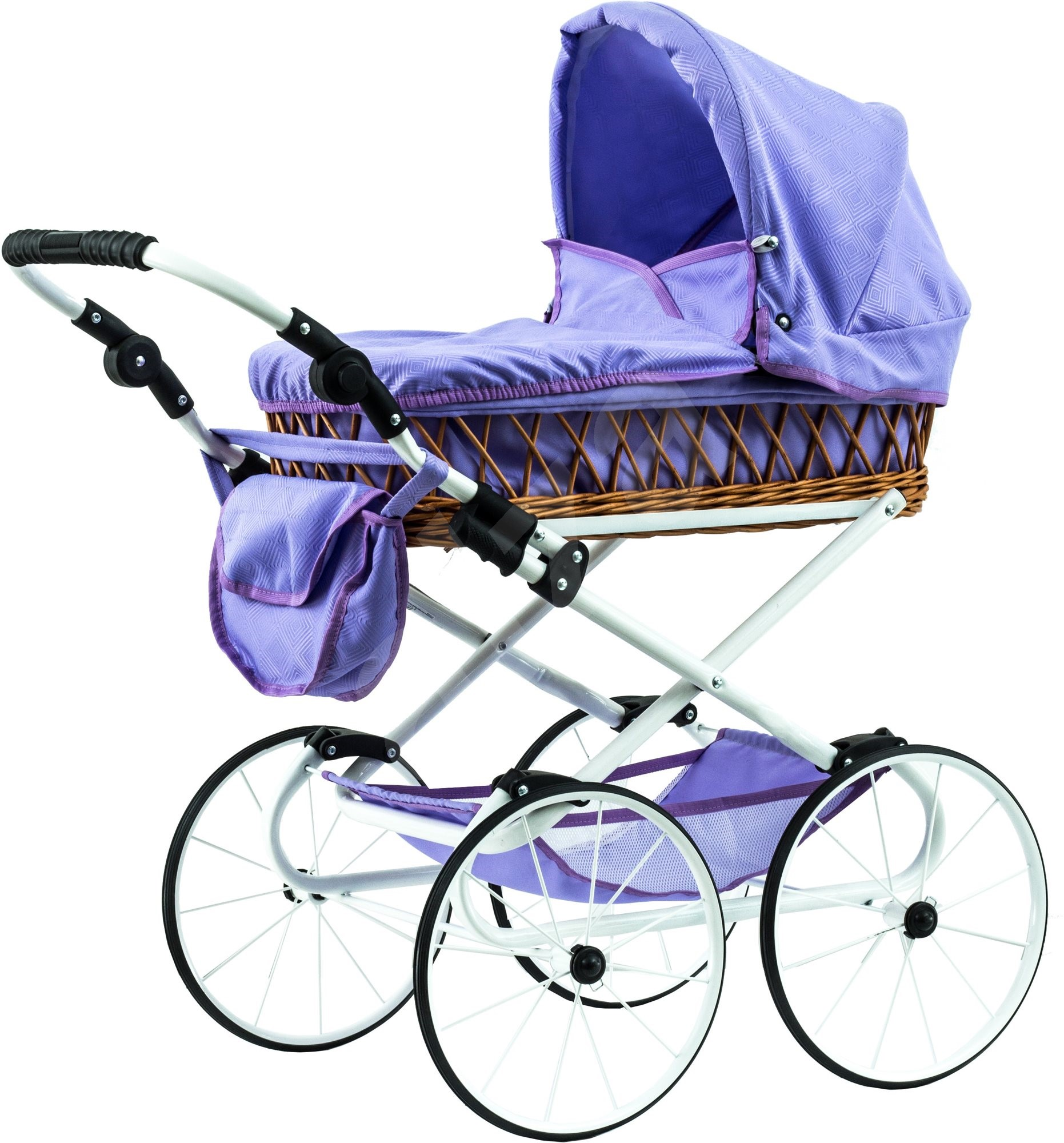 teddies stroller monika retro purple doll stroller. Black Bedroom Furniture Sets. Home Design Ideas