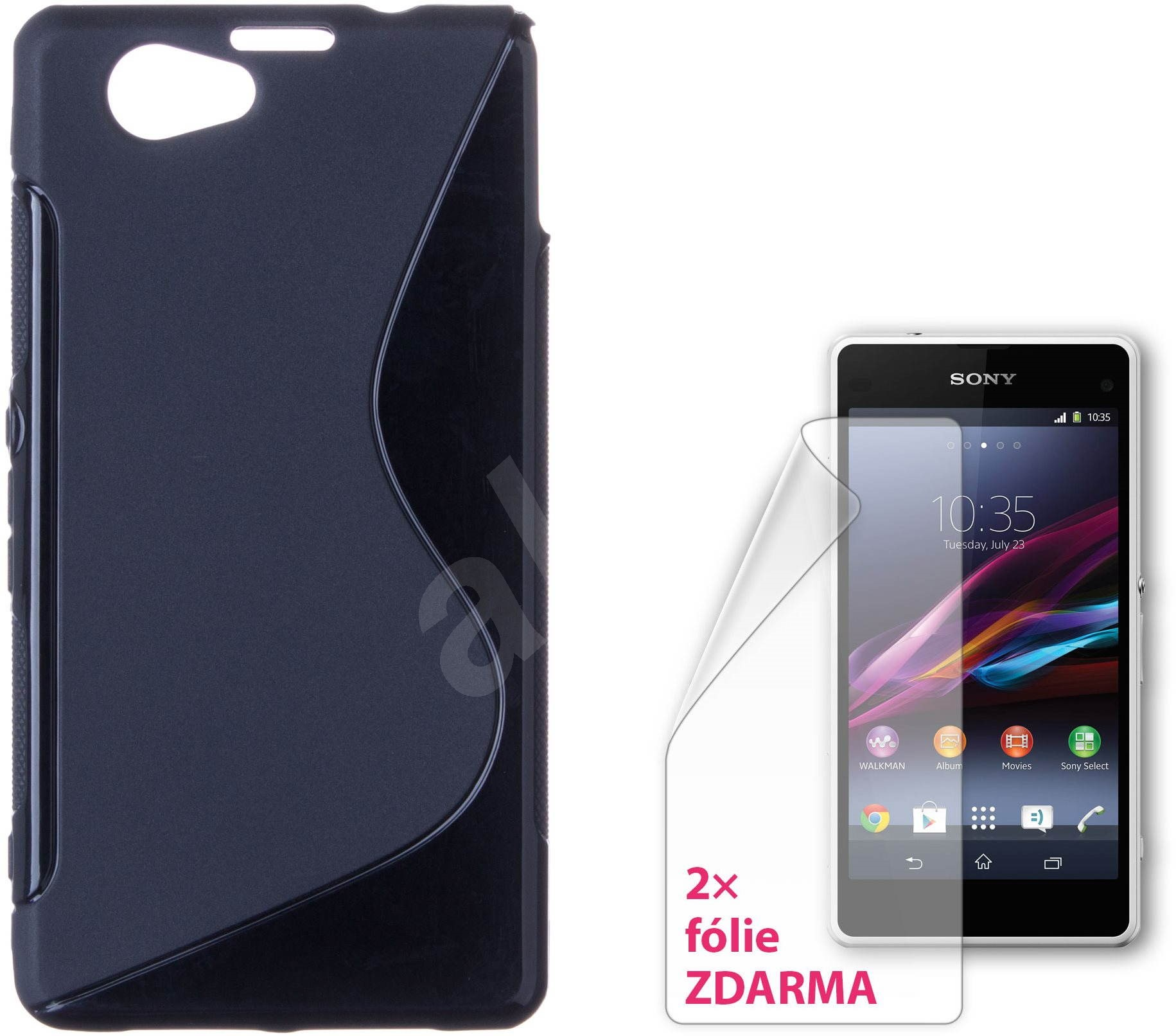 connect mit it cover sony xperia z1 kompakt schwarz. Black Bedroom Furniture Sets. Home Design Ideas