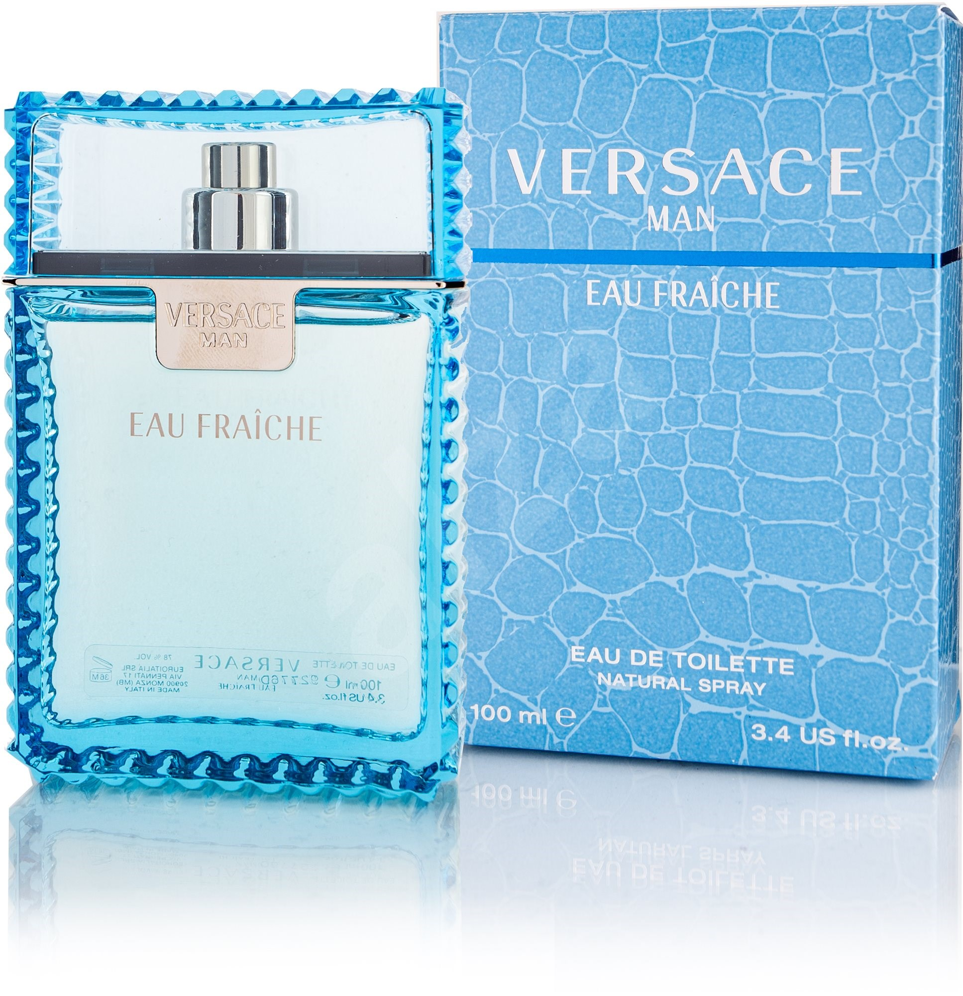 versace eau fraiche man 100 ml eau de toilette trendy. Black Bedroom Furniture Sets. Home Design Ideas