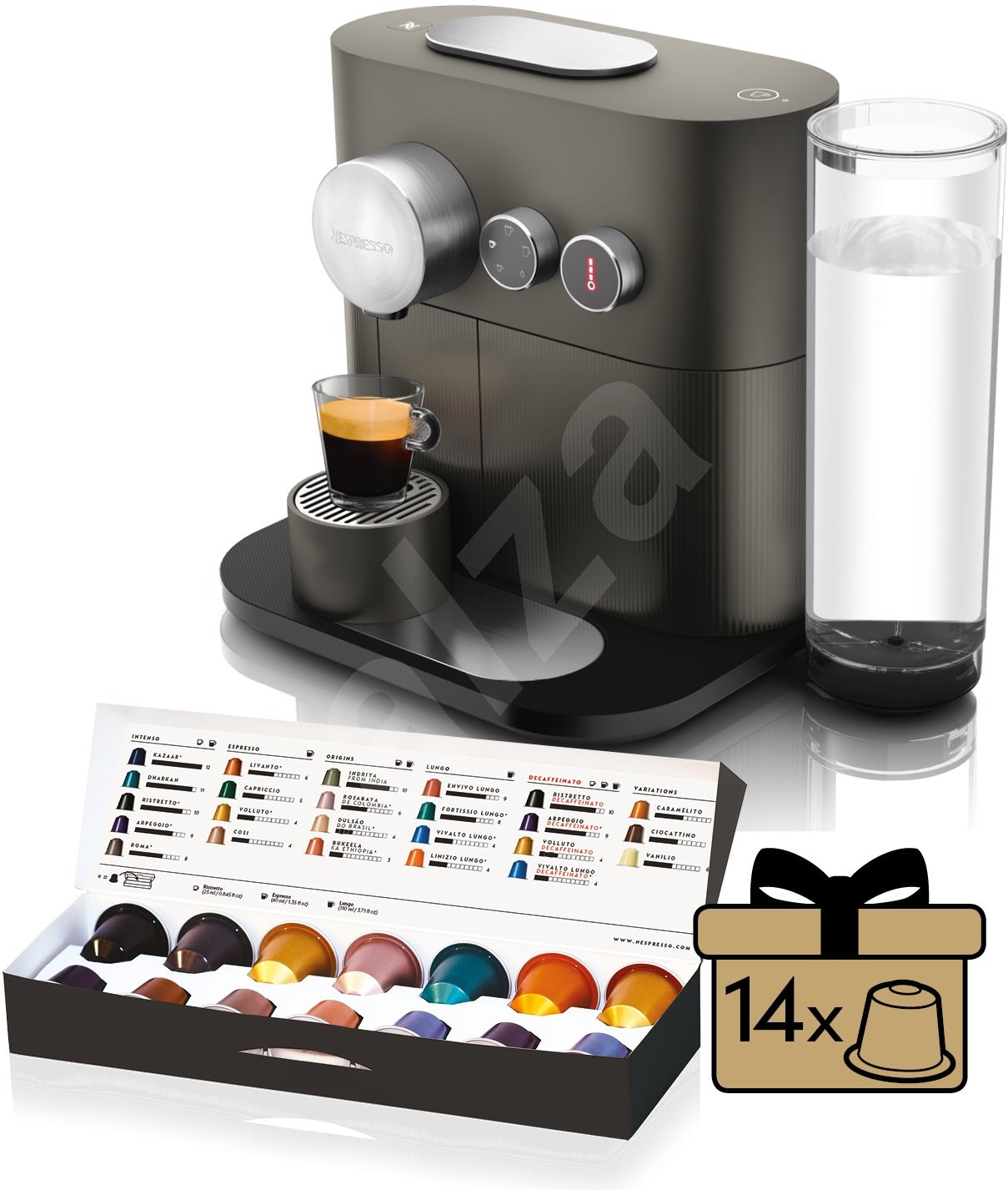 nespresso d longhi expert en350 g capsule coffee machine. Black Bedroom Furniture Sets. Home Design Ideas