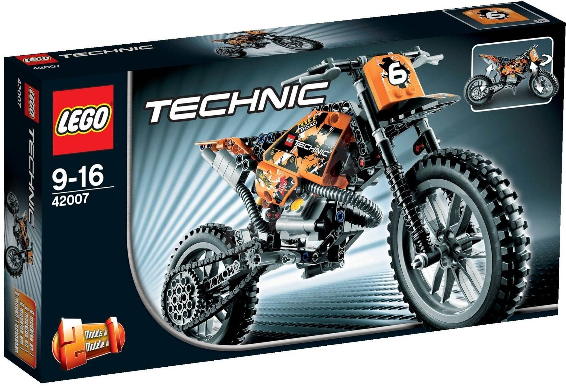 lego technic 42007 moto cross bike building kit. Black Bedroom Furniture Sets. Home Design Ideas