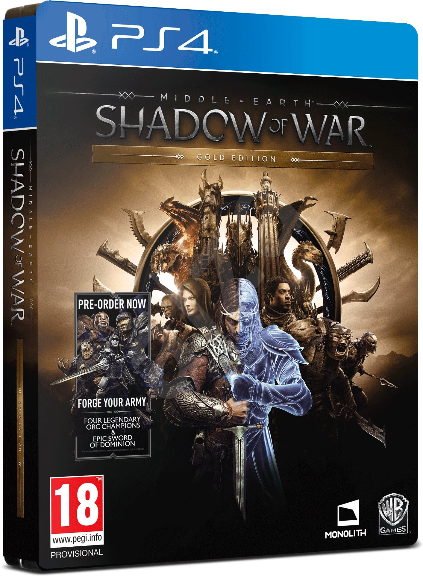 middle earth shadow of war gold edition ps4 spiel f r. Black Bedroom Furniture Sets. Home Design Ideas