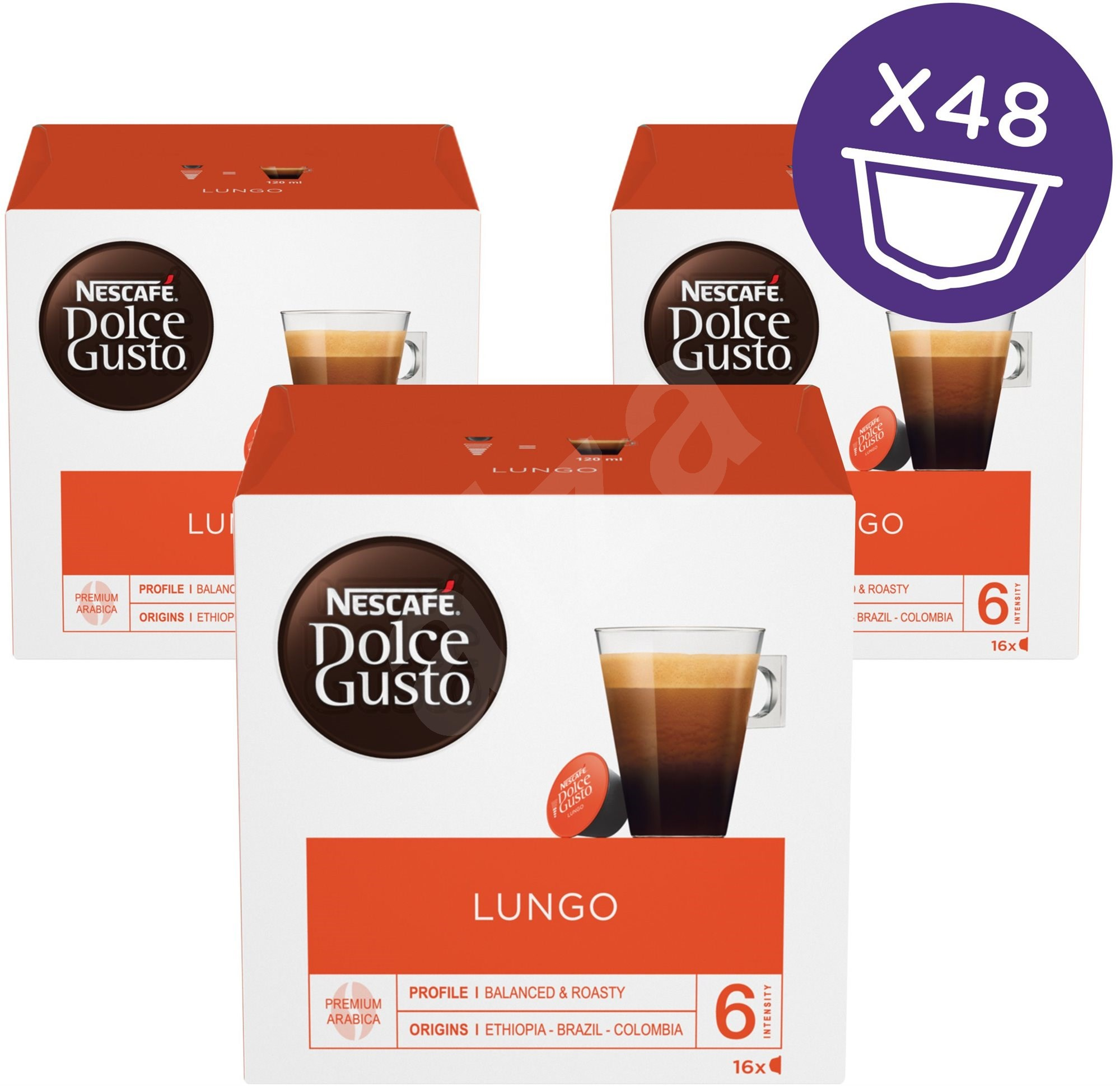 nescaf dolce gusto caffe lungo 16 capsules x 3 coffee capsules. Black Bedroom Furniture Sets. Home Design Ideas