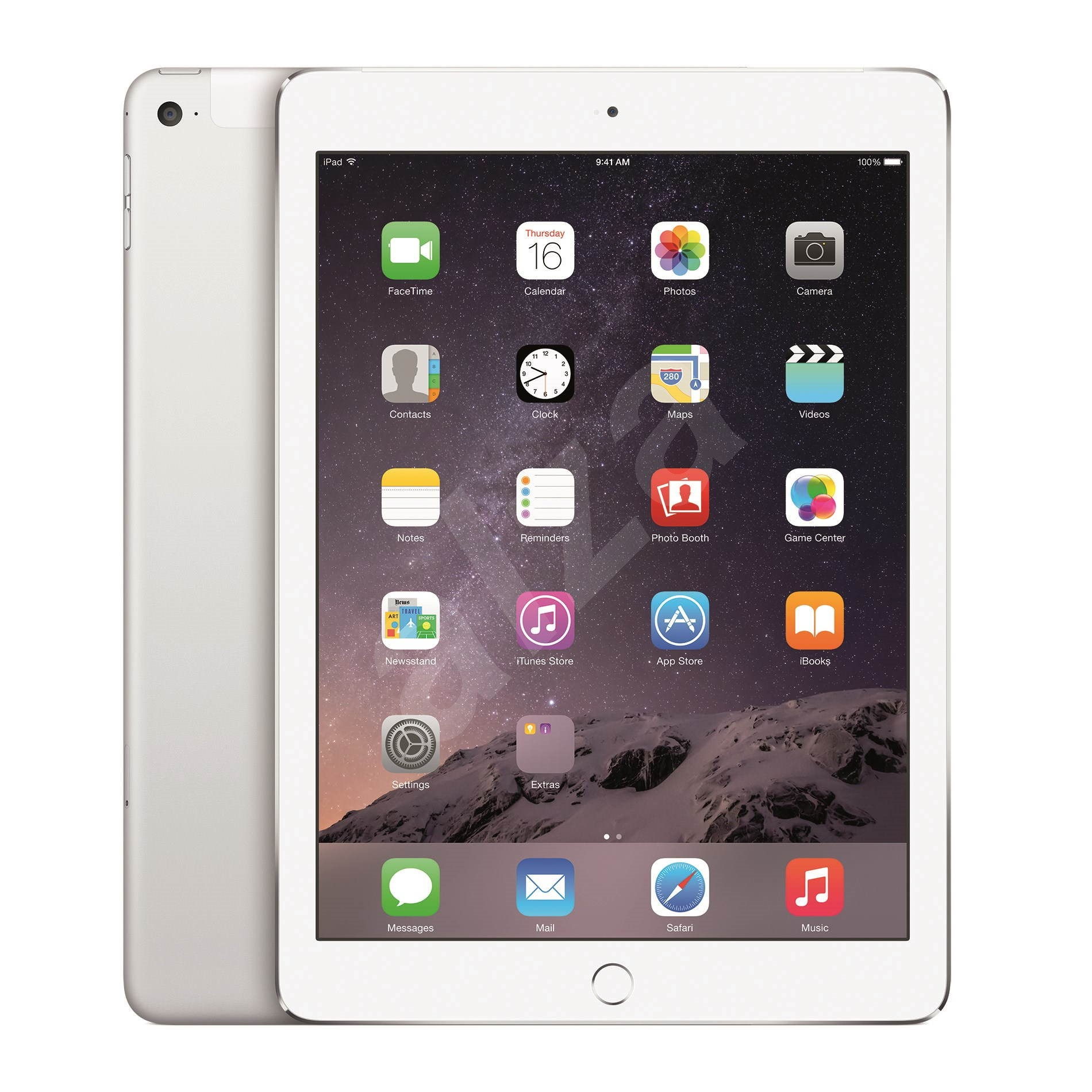 ipad air 2 32gb wifi cellular silver tablet. Black Bedroom Furniture Sets. Home Design Ideas