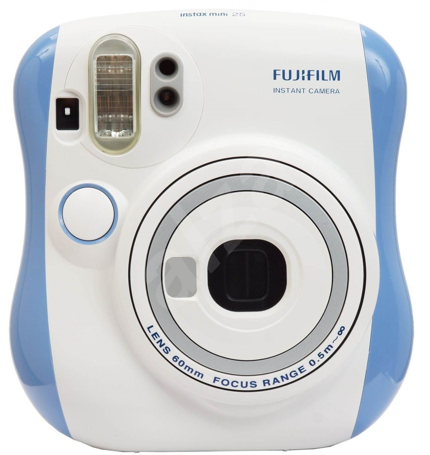 fujifilm instax mini 25 instant camera blue digital camera. Black Bedroom Furniture Sets. Home Design Ideas
