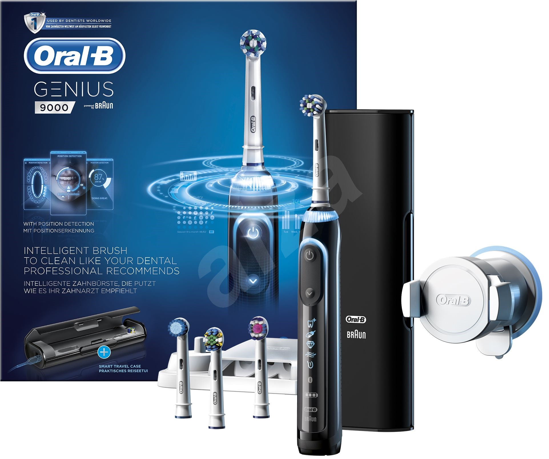 oral b genius pro 9000 black electric toothbrush. Black Bedroom Furniture Sets. Home Design Ideas