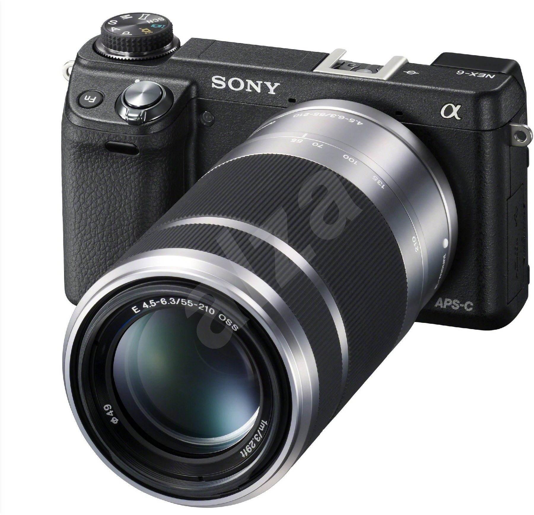 sony nex 6y 2 lenses 16 50mm a 55 210 mm digital camera. Black Bedroom Furniture Sets. Home Design Ideas
